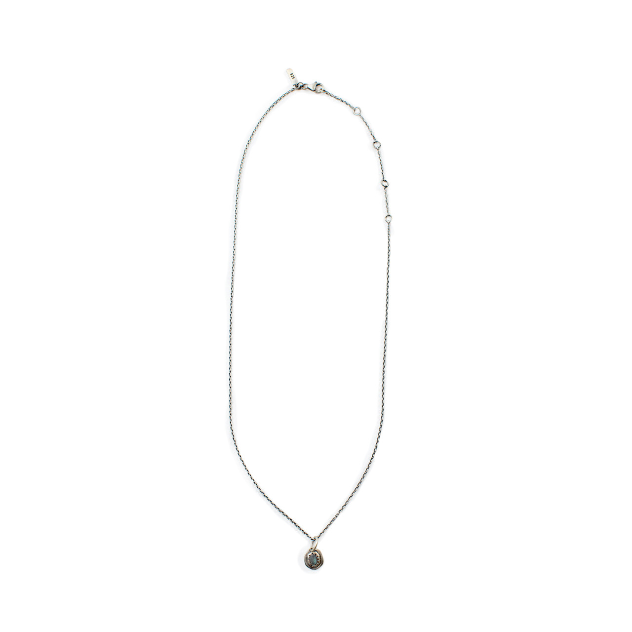 Oxidized Small Pendant Necklace
