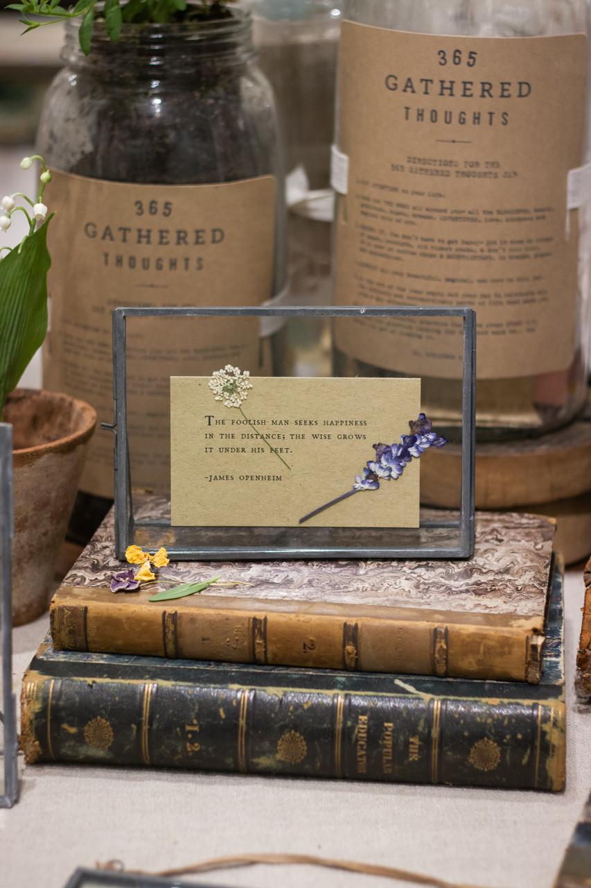 Handmade pressed botanical in glass frame