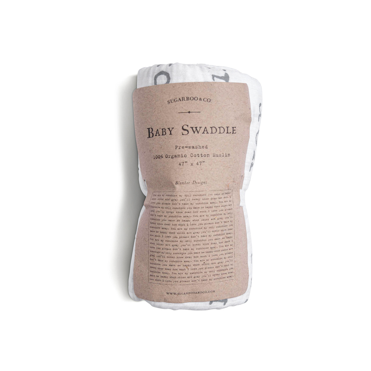 baby swaddle - you are my sunshine