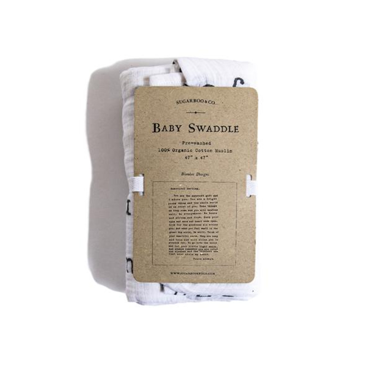 baby swaddle - letter to sophie