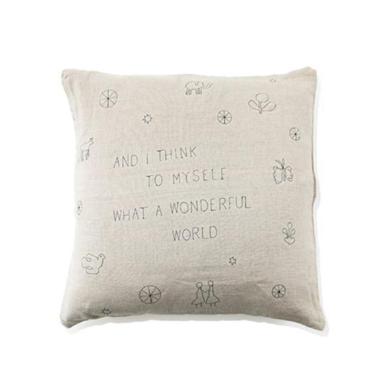 what a wonderful world pillow