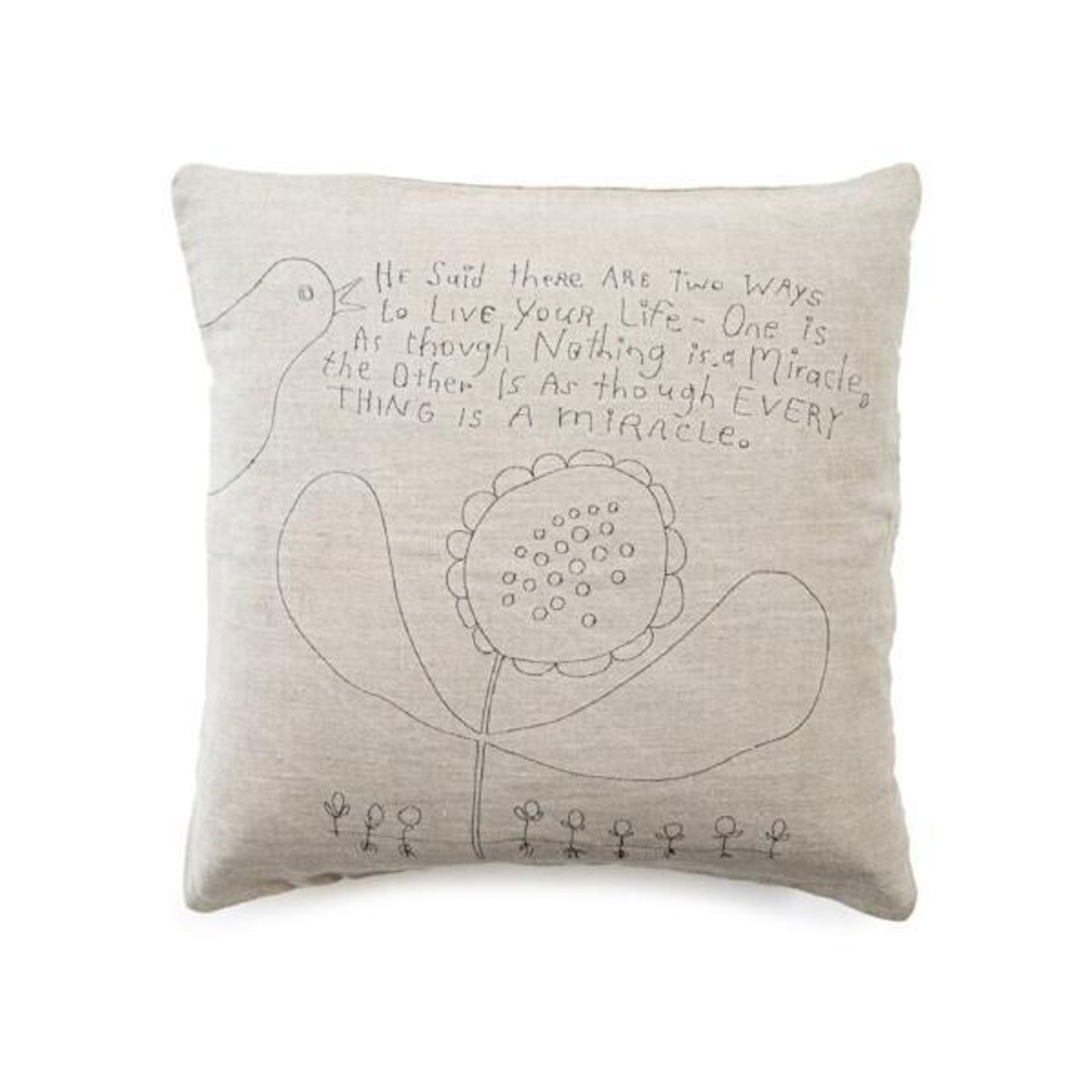 two ways to live pillow