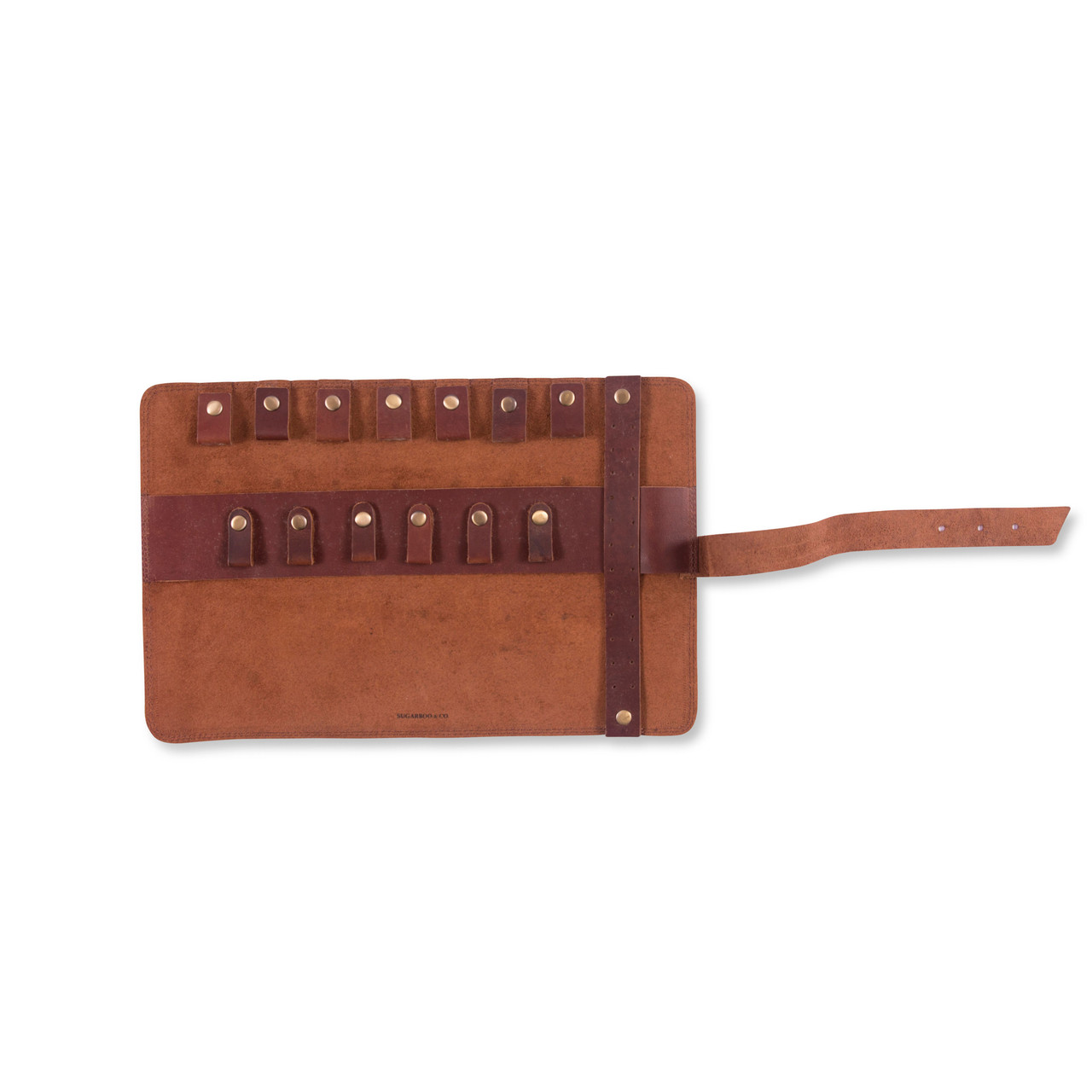 Leather Roll Up Pouch open