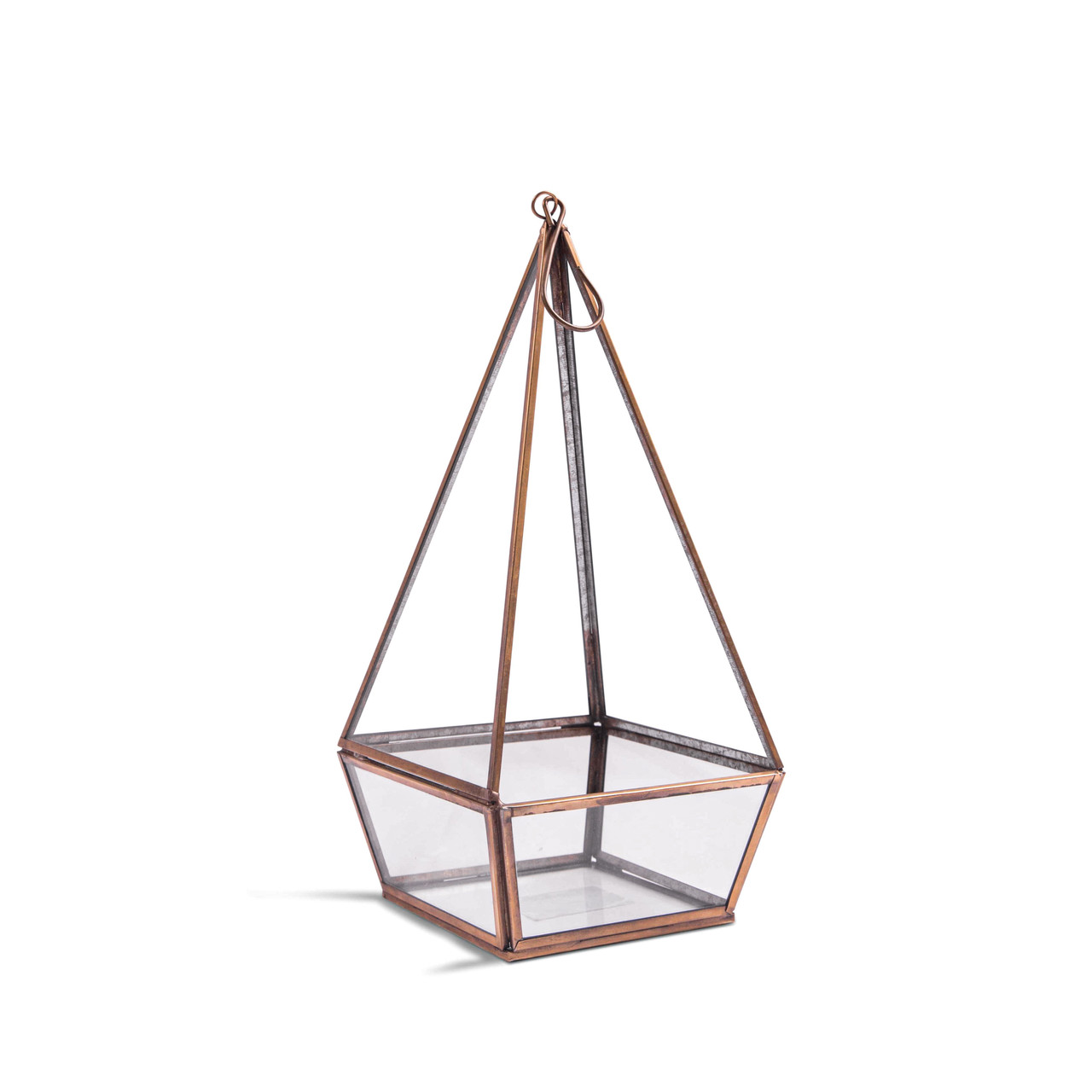 Hanging or Standing Point Glass Terrarium
