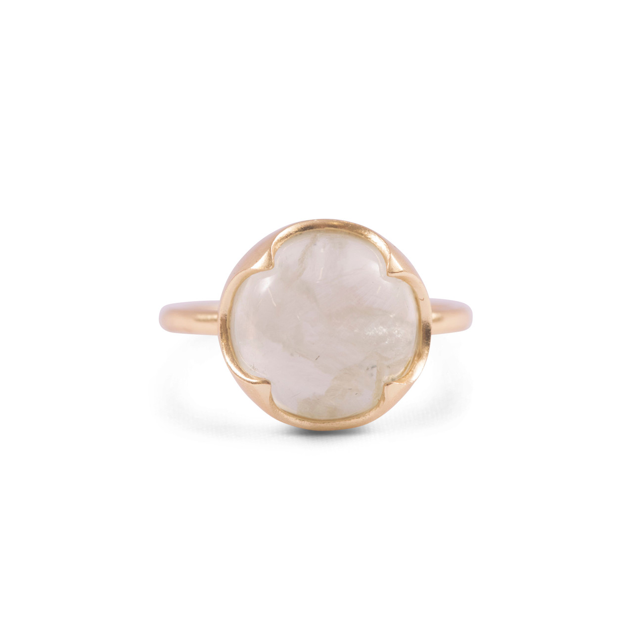 Gold Plated Ring with Large Prehnite