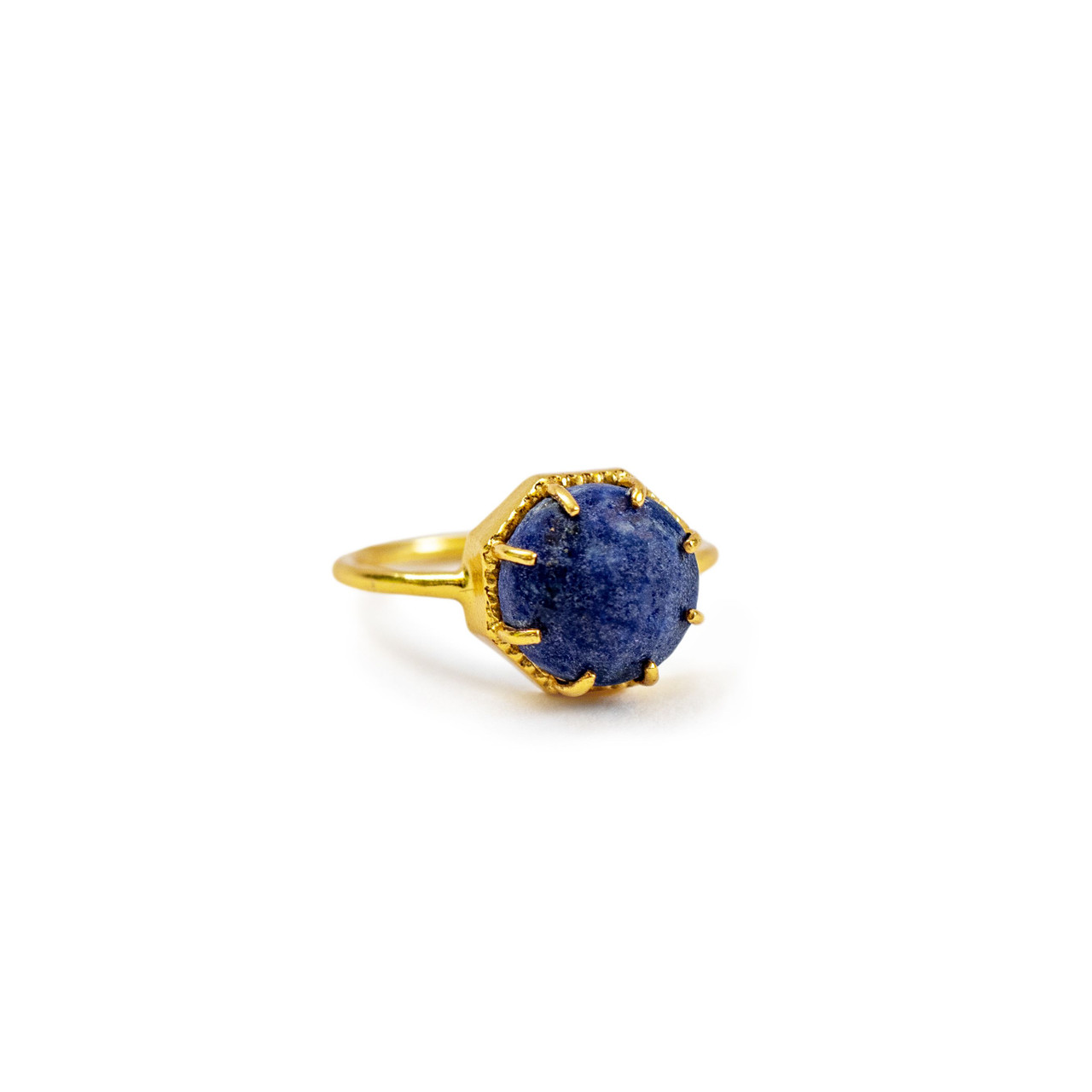 Gold Plated Ring with Lapis