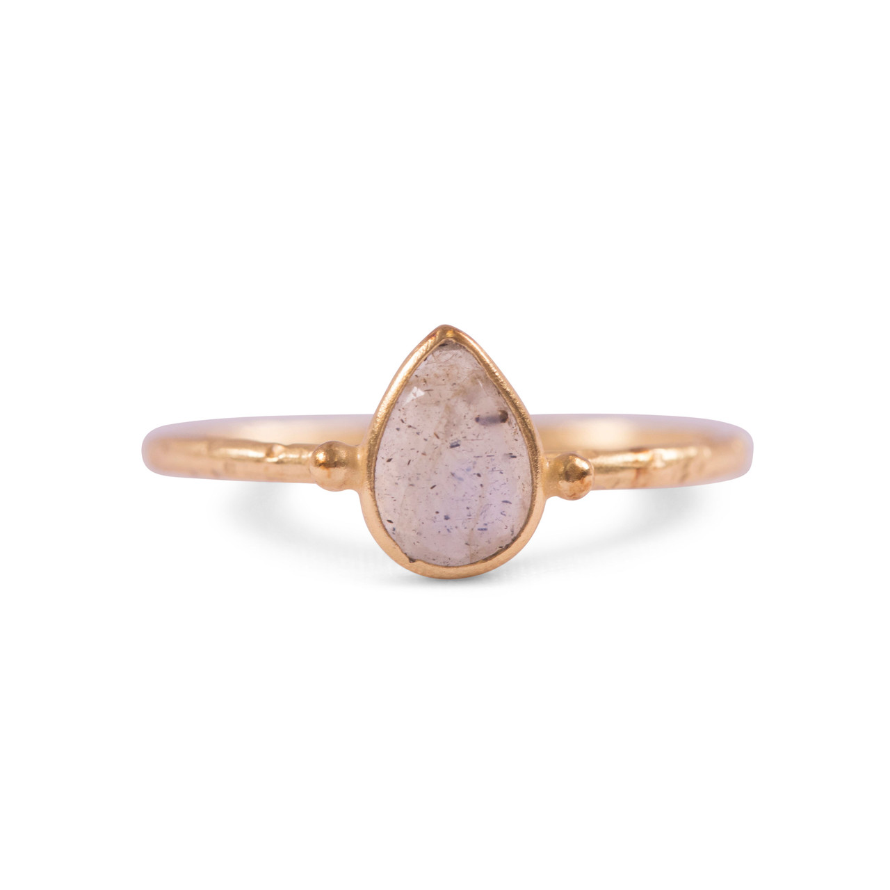 Gold Plated Ring with Labradorite