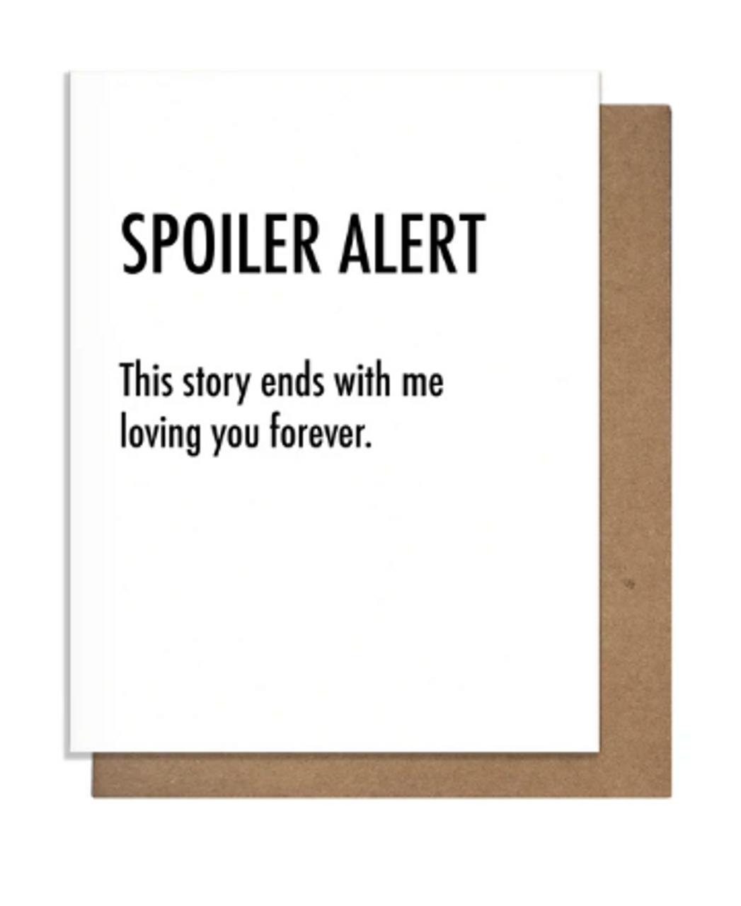 Card: Spoiler Alert Love