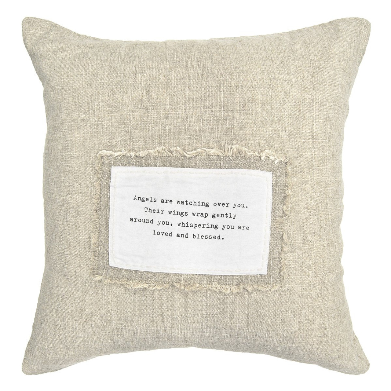 angels are watching patch pillow