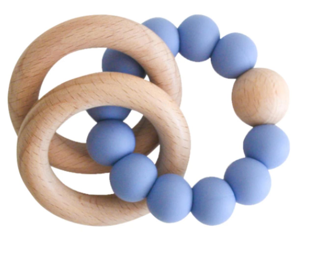 Beechwood Teether Ring Set - Blue