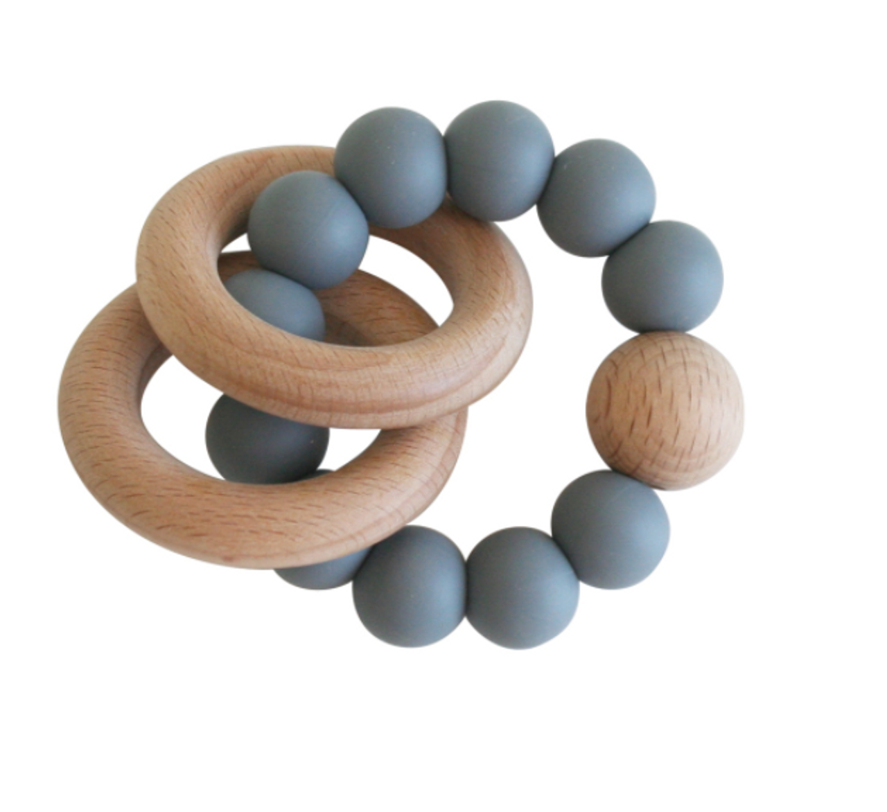 Beechwood Teether Ring Set - Storm Grey