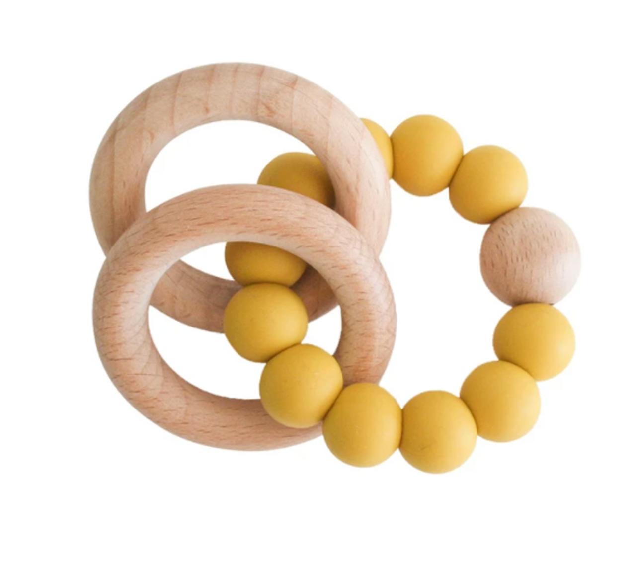 Beechwood Teether Ring Set - Butterscotch