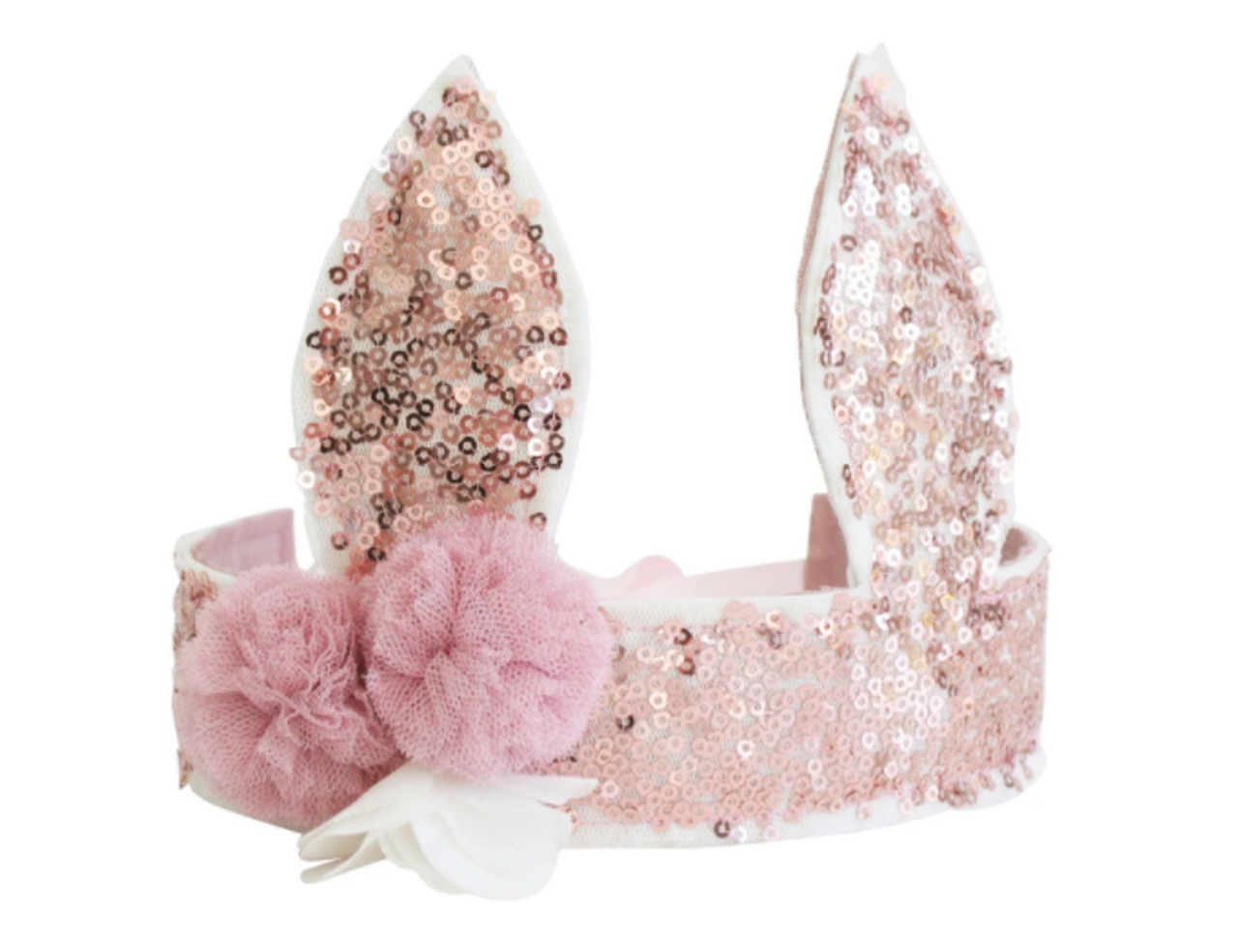 Sequin Bunny Crown - Rose Gold
