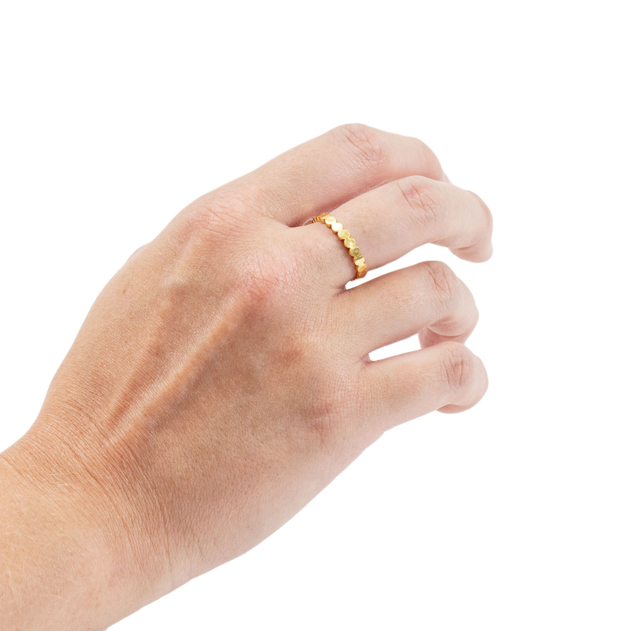 Gold Plated Scalloped Ring