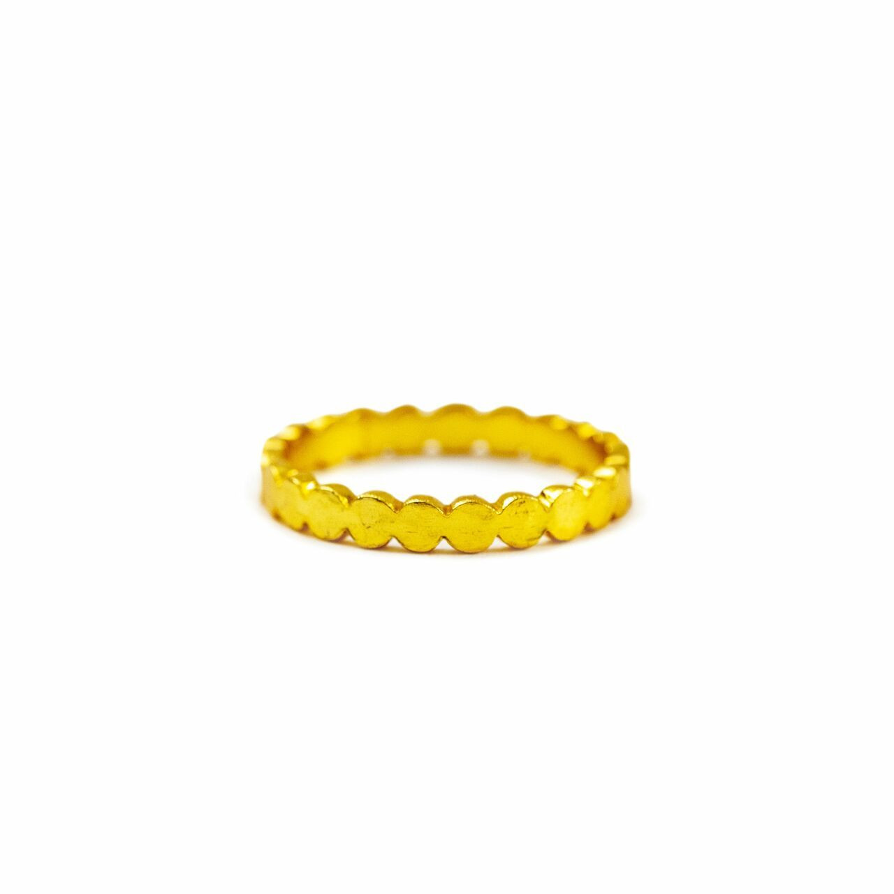 Gold Plated Scalloped Ring - Pick from 4 sizes Creative Designs