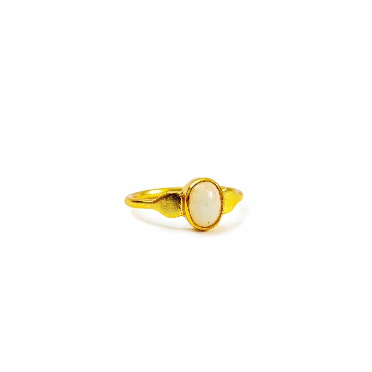 Gold Plated Ring with Opal - Pick from 4 sizes Creative Designs