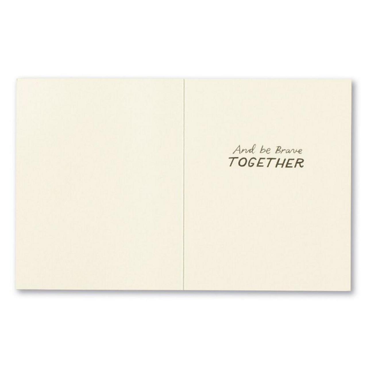 Let's hold hands Encouragement Card inside