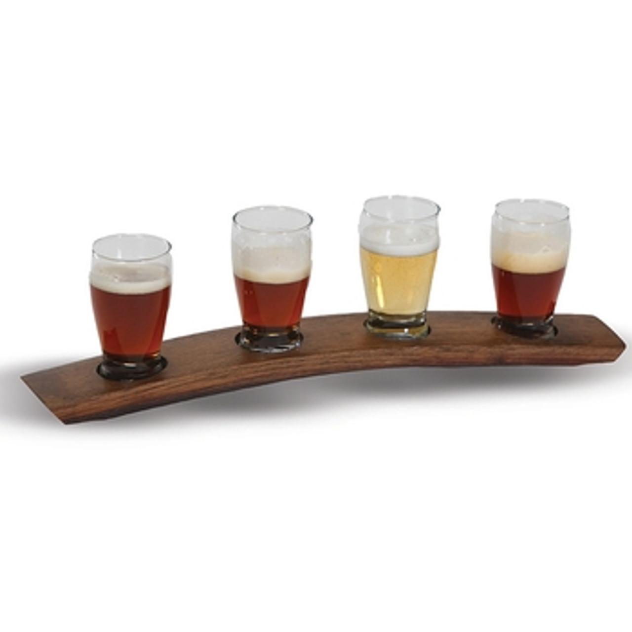 USA Beer Taster Flight-Walnut