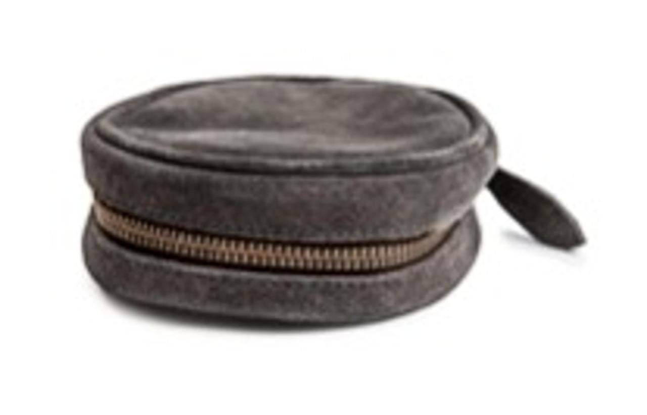 Suede Jewelry Pouch - Grey