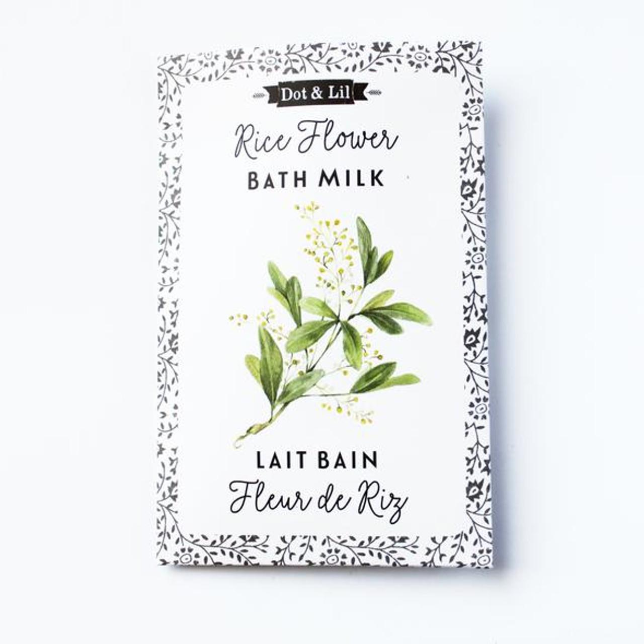 rice flower bath milk sachet