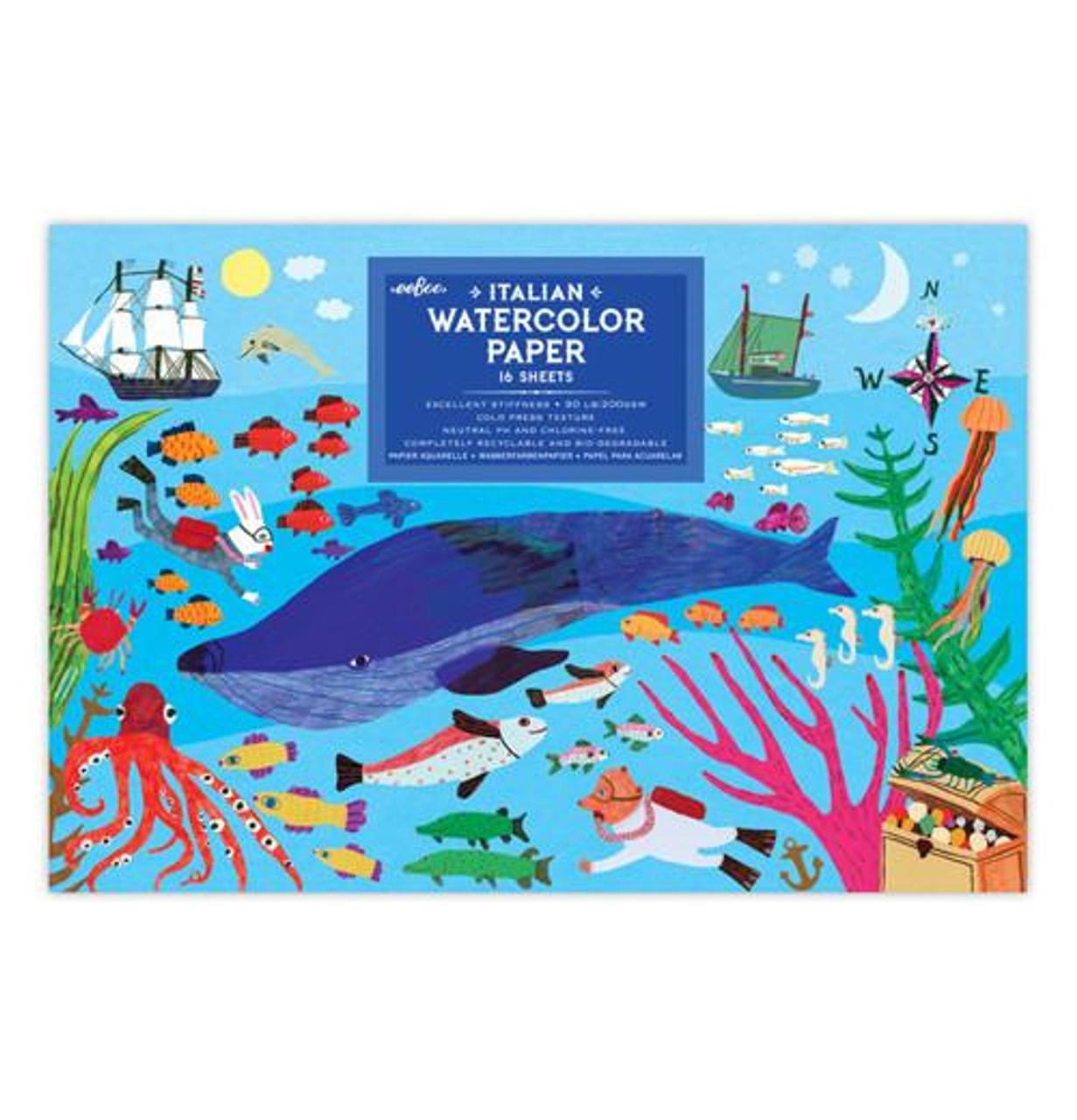 "WATERCOLOR PAPER ""IN THE SEA"""