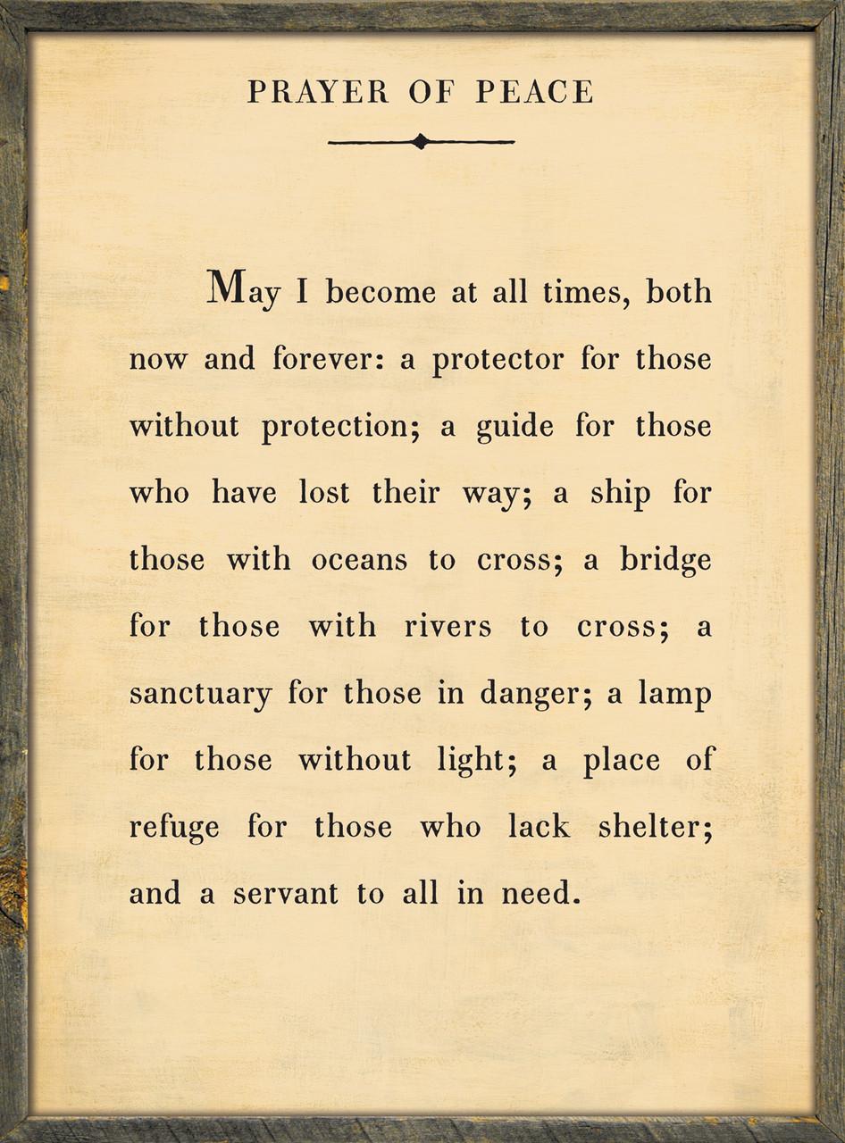 Prayer of Peace*
