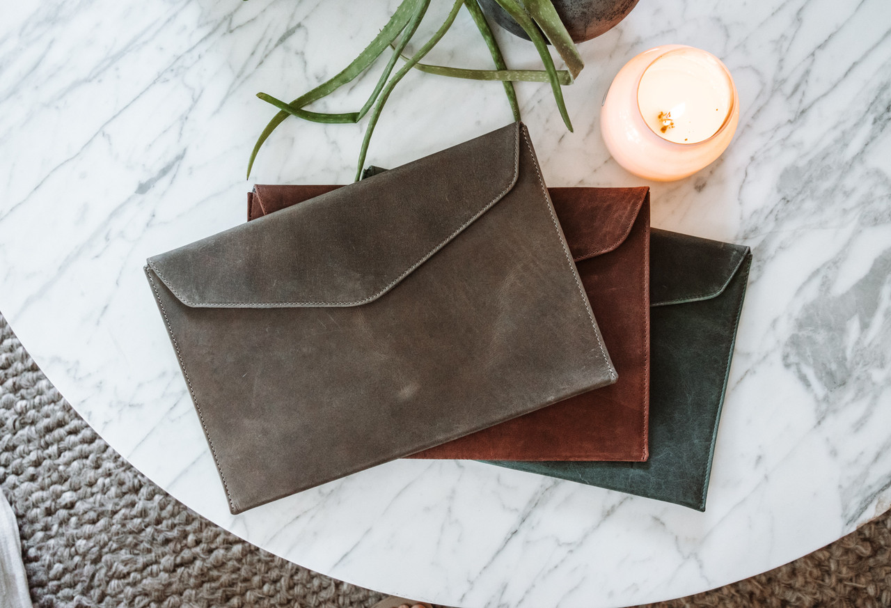 Leather Laptop Case / Computer Sleeve