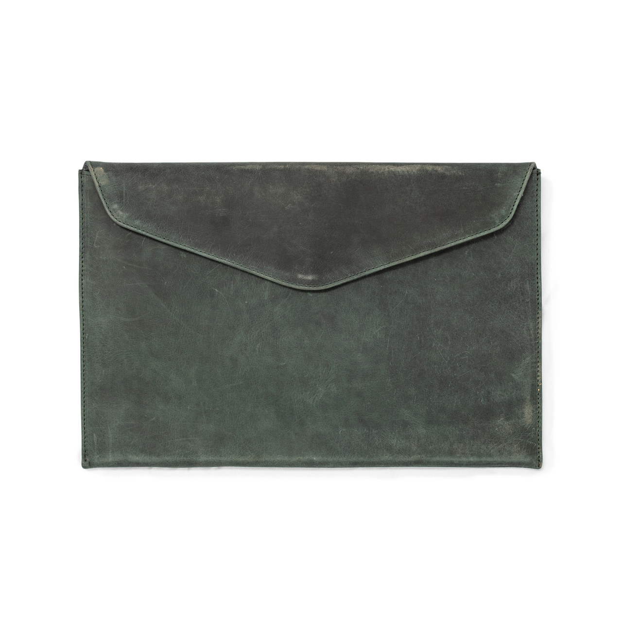 Turquoise Leather Laptop Case / Computer Sleeve