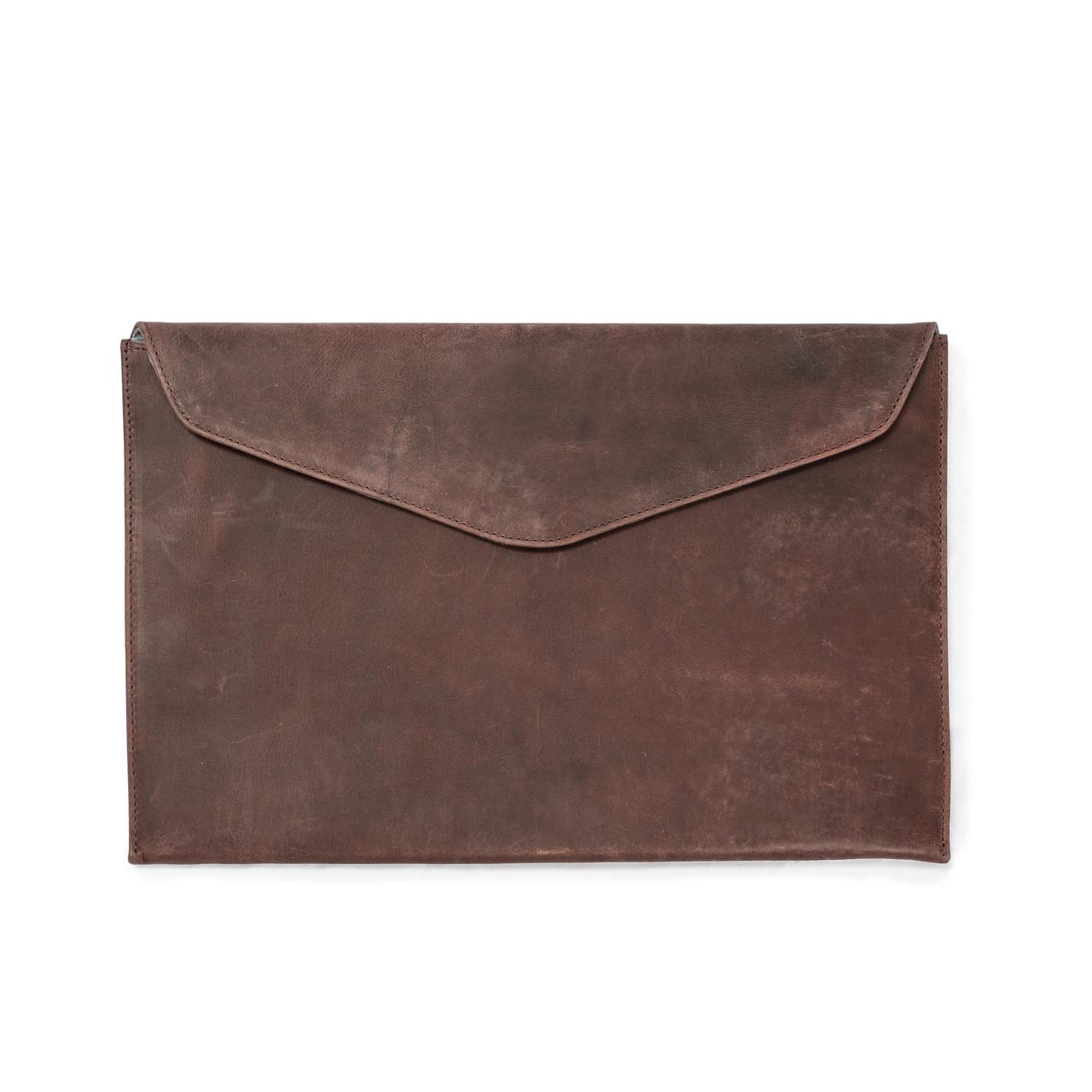 Burgundy Leather Laptop Case / Computer Sleeve