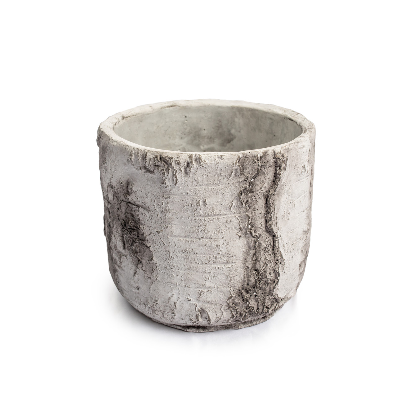 Large Cement Pot with Rounded Bottom