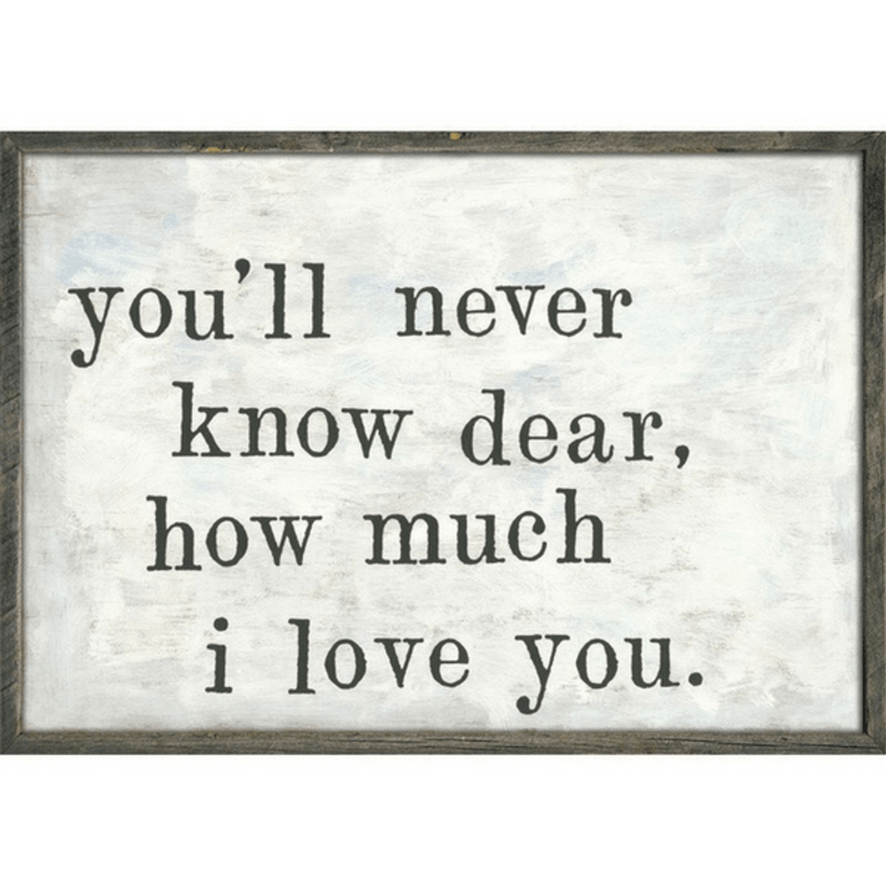 You'll Never Know art print with greywood frame