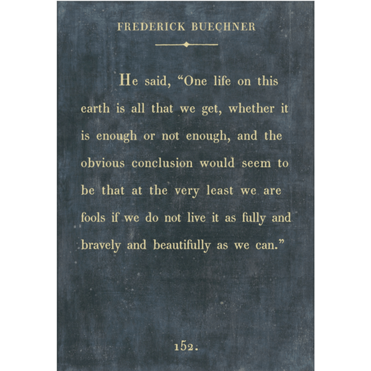 Frederick Buechner art print - charcoal with gallery wrap frame
