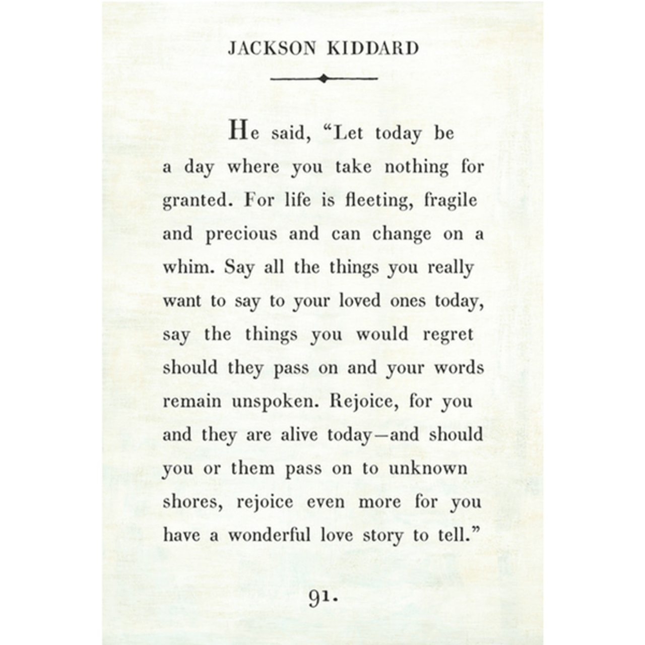 jackson kiddard art print - white with gallery wrap frame