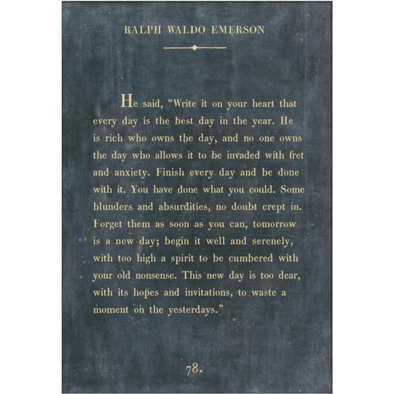 ralph waldo emerson art print - charcoal with gallery wrap frame
