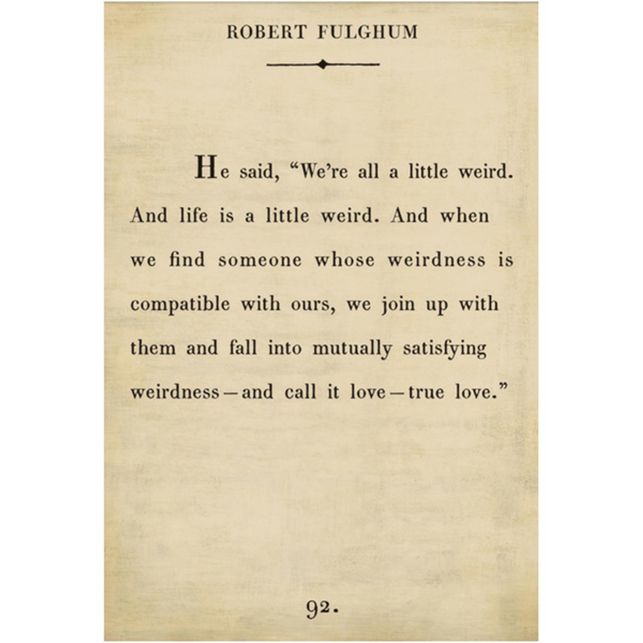 robert fulghum art print - cream with gallery wrap frame
