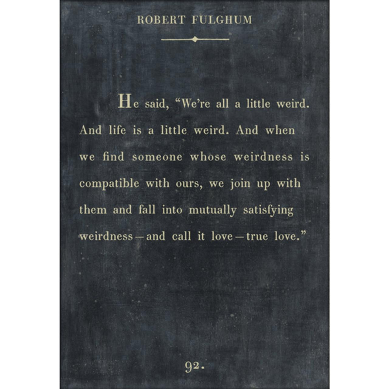 robert fulghum art print - charcoal with gallery wrap frame