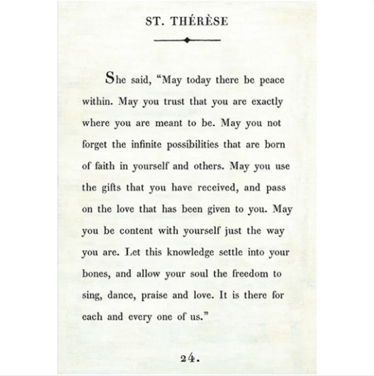 st therese art print - white with gallery wrap frame