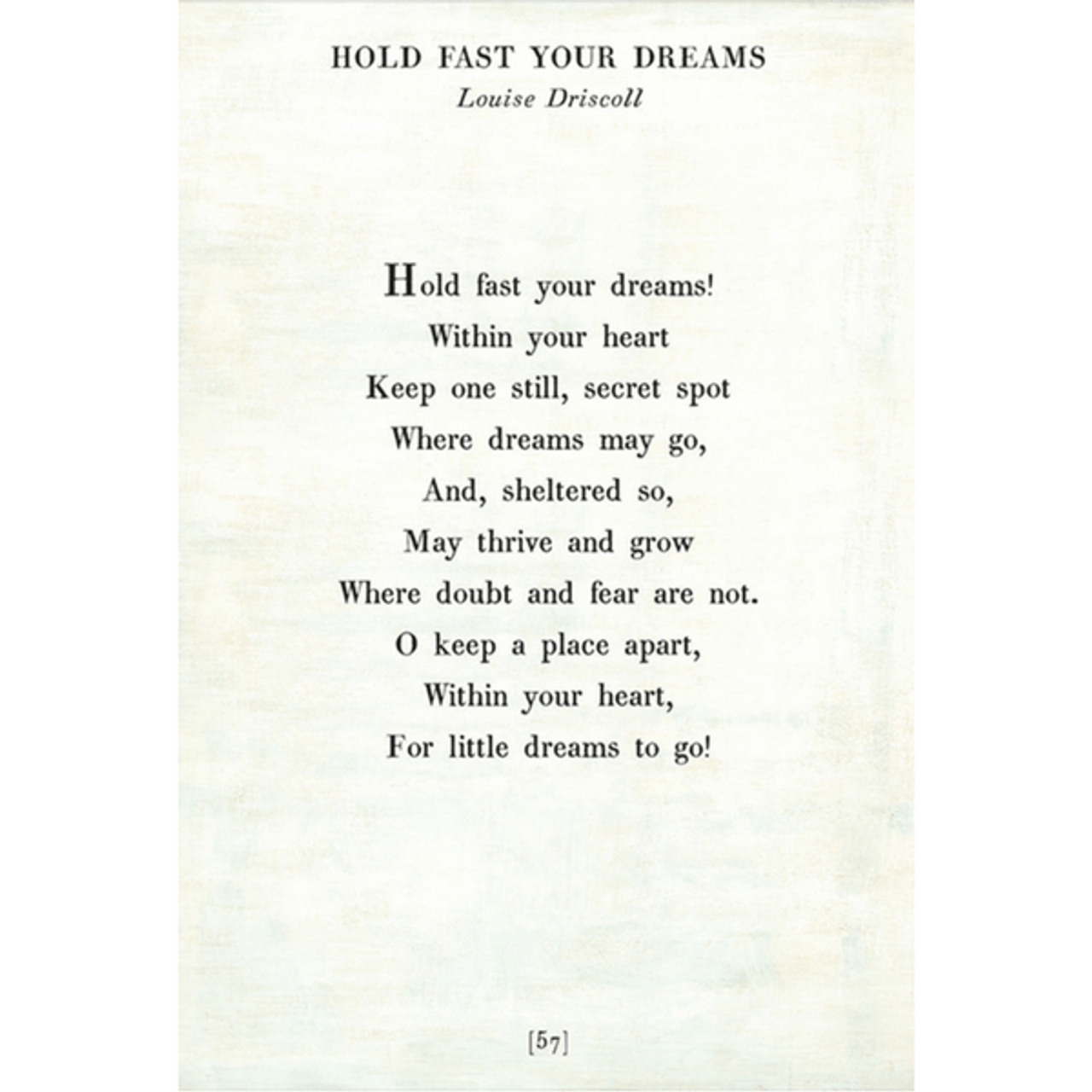 hold fast your dreams art print - white with gallery wrap