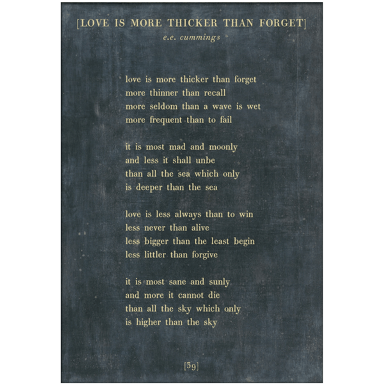 love is more thicker art print - charcoal with gallery wrap