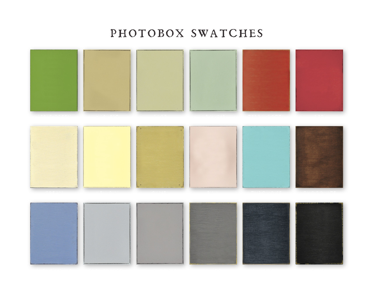 Photobox swatches