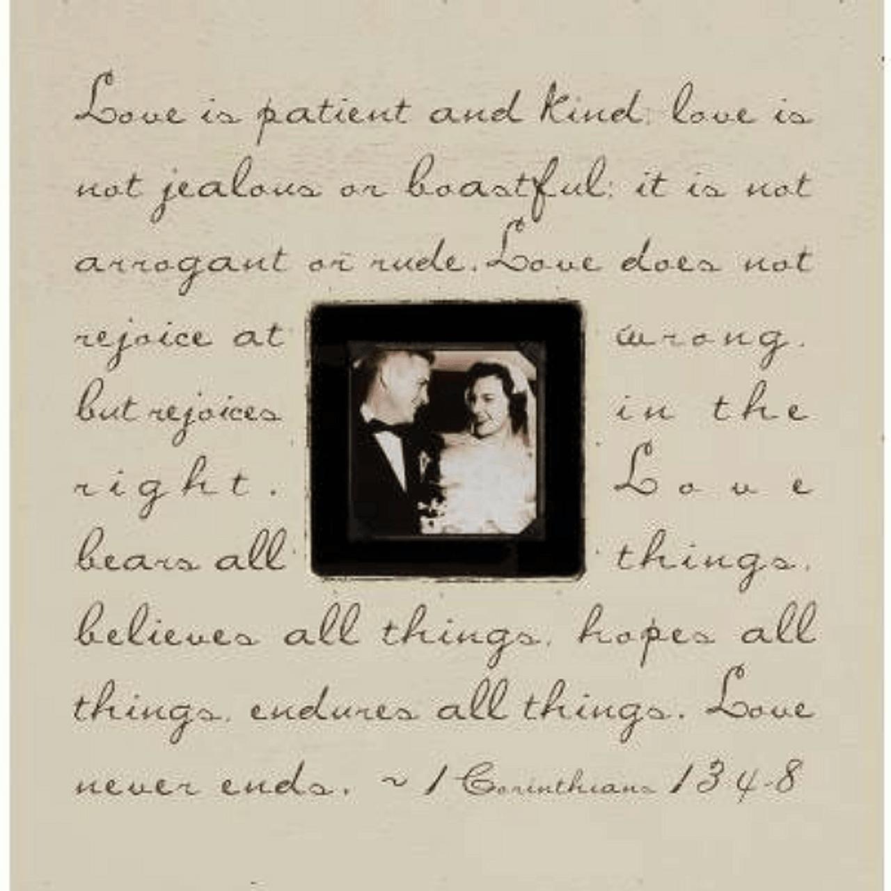 love is patient - photo box