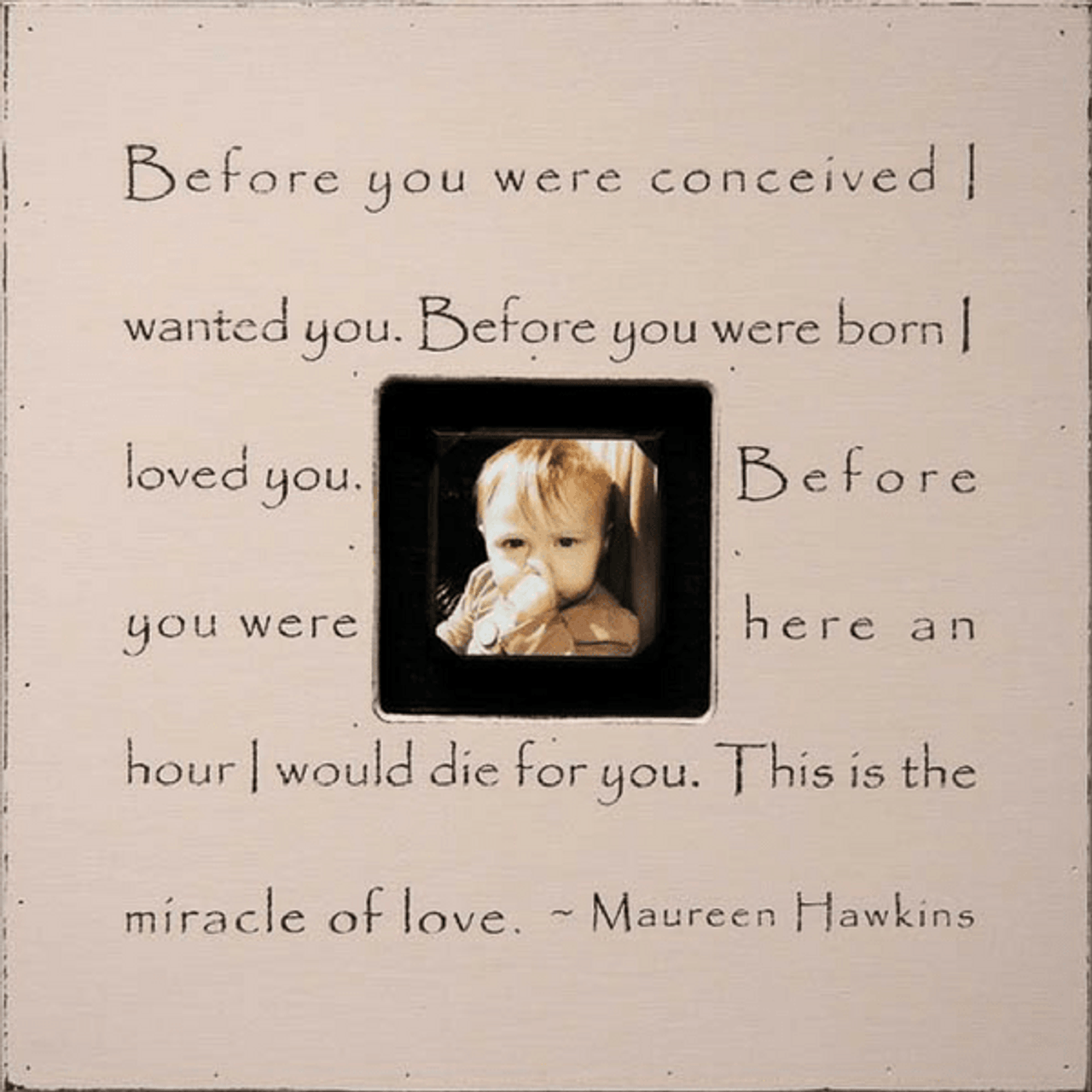 before you were conceived - photo box