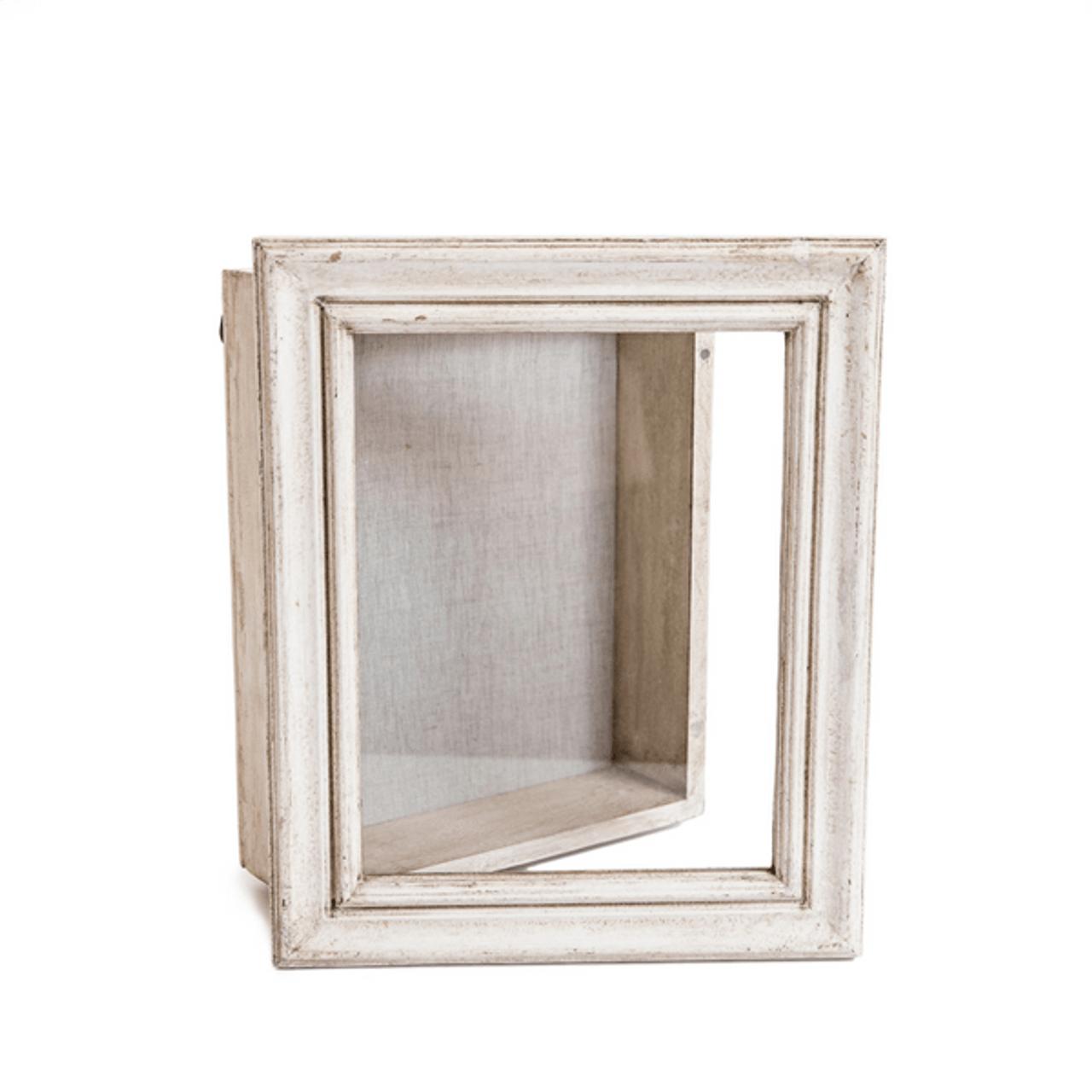 wood and glass shadow box