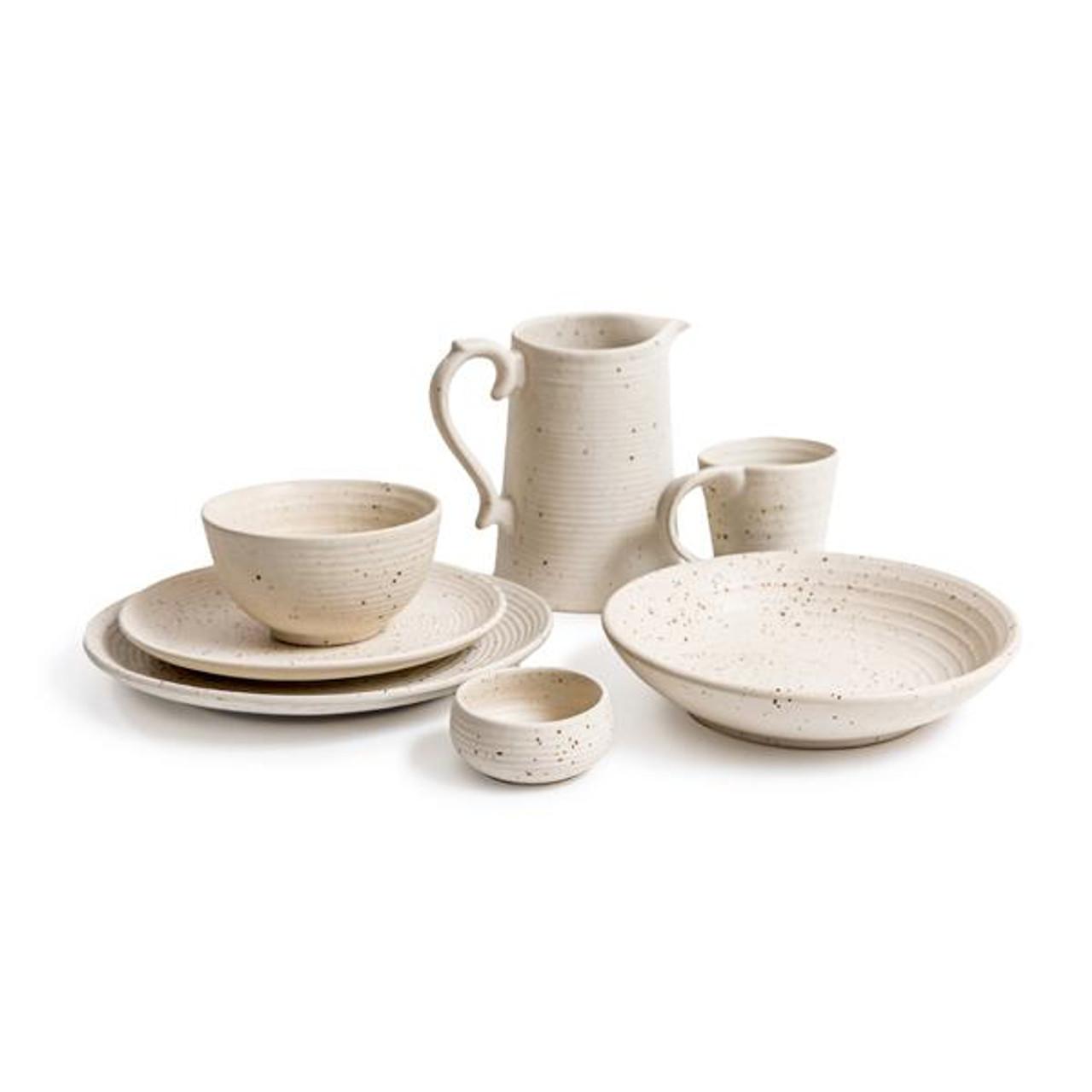 ribbed speckled ceramics