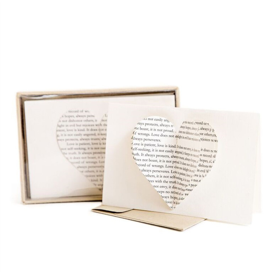 singe cream colored card with a 3D heart and the set of cards