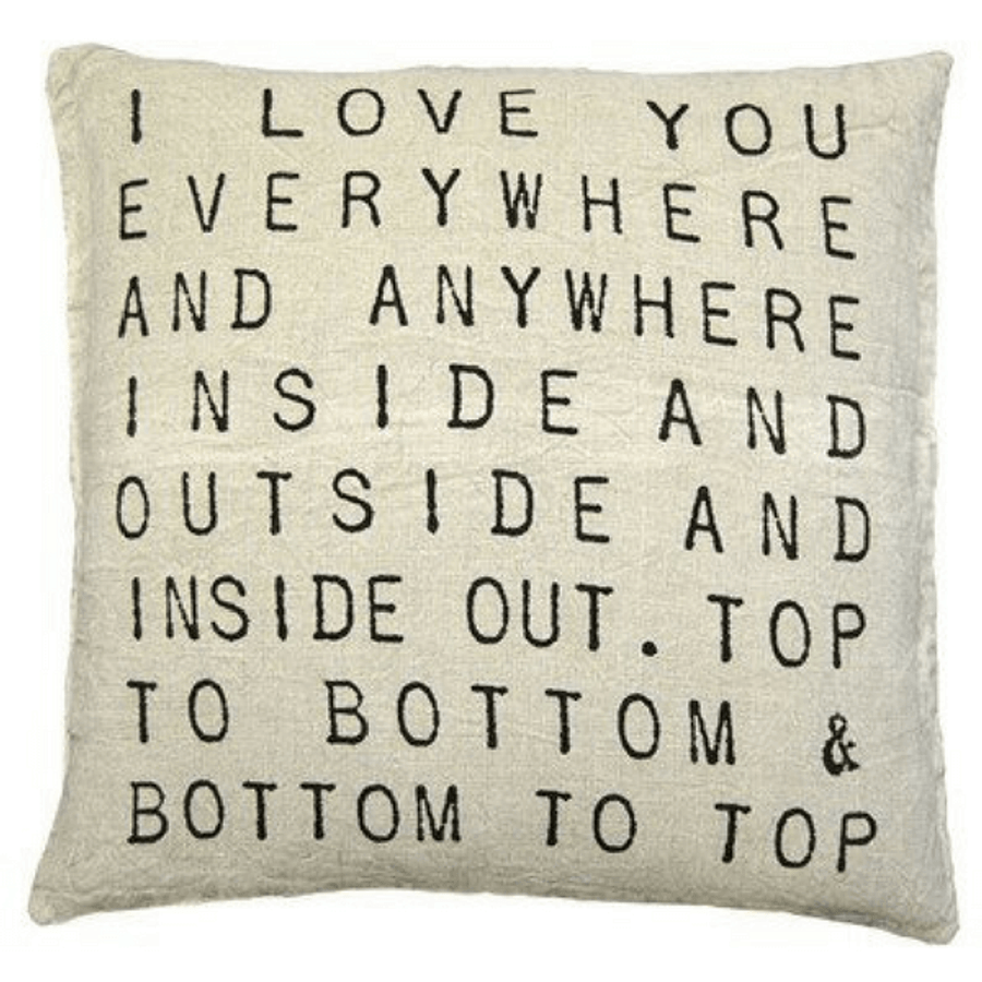 I Love You Everywhere Pillow