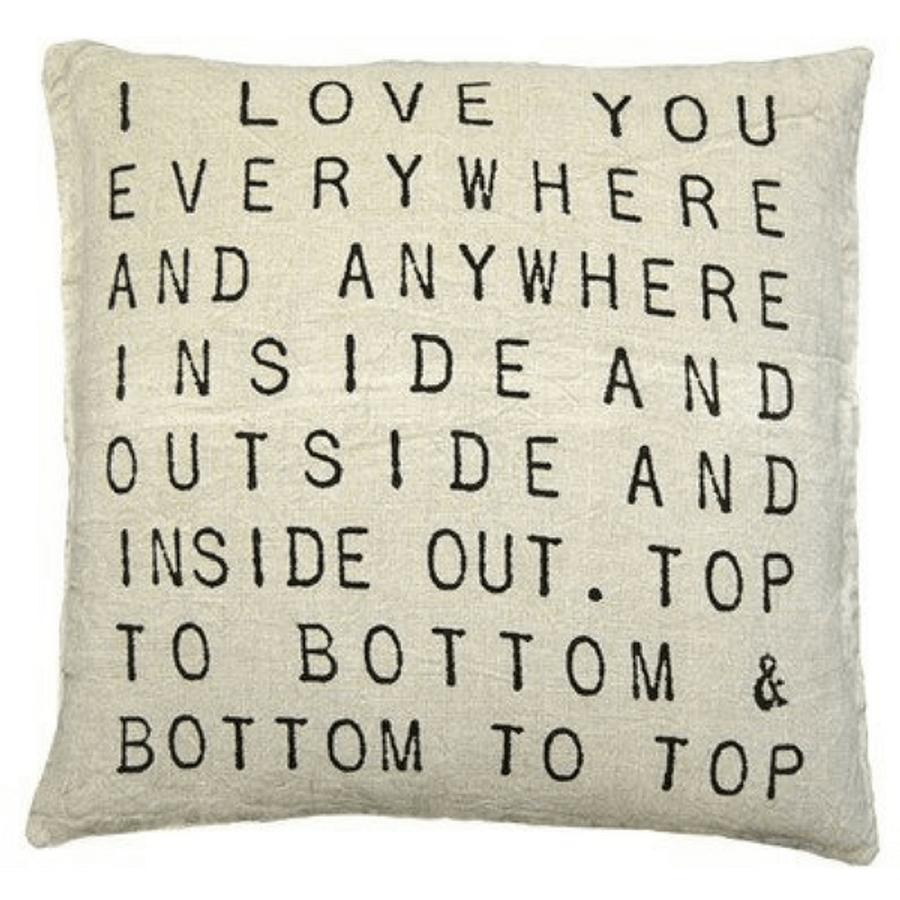 I love you pillow everywhere