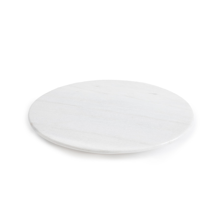 round white marble lazy susan top