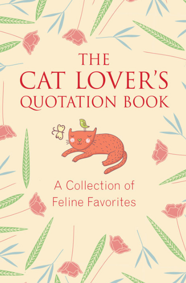 a light yellow book cover with an orange cat and the title of the book in orange font
