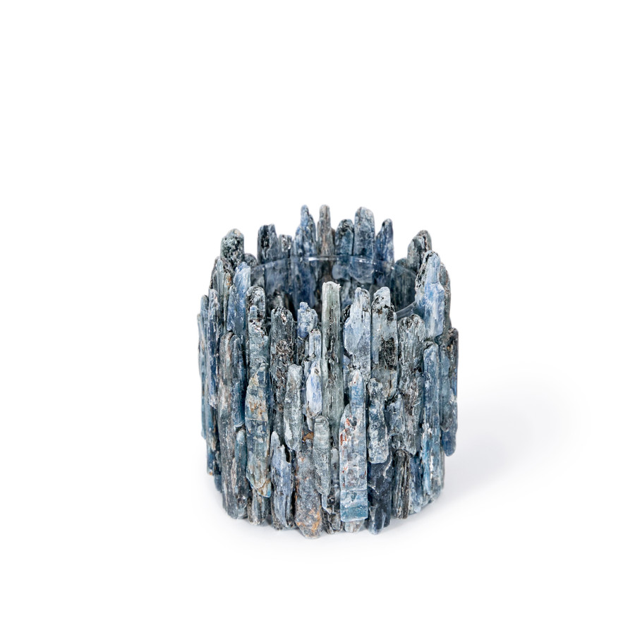 blue celestite point vase